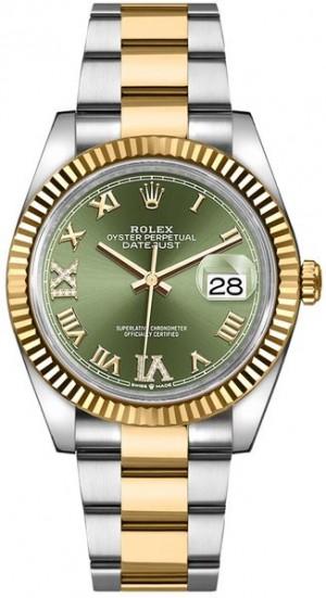 Rolex Datejust Green Dial Women's Watch 126233