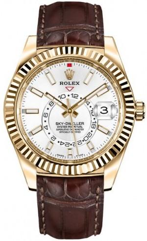 Rolex Sky-Dweller Gold Men's Watch 326138