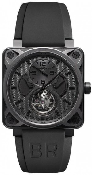 Bell & Ross Aviation Instruments Black Carbon Fiber Dial Watch BR01-TOURB-PHANTOM
