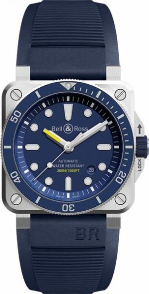 Bell & Ross Aviation Instruments Blue Dial Men's Watch BR0392-D-BU-ST/SRB