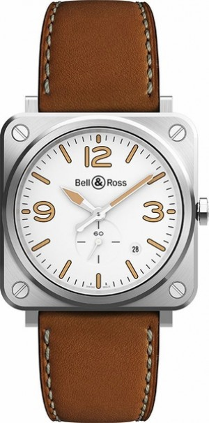 Bell & Ross Aviation Instruments White Dial Men's Watch BRS-WHERI-ST-SCA