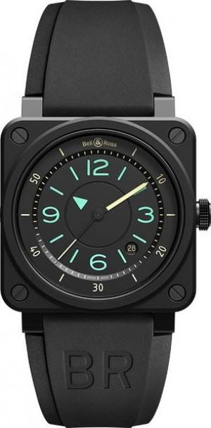 Bell & Ross Aviation Instruments Black Dial Men's Watch BR0392-IDC-CE/SRB