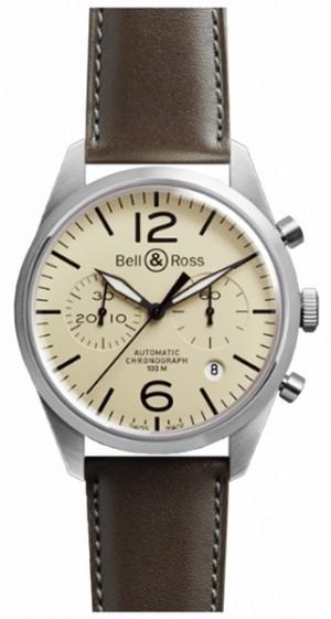 Bell & Ross Vintage Original Chronograph Men's Watch BRV126-BEI-ST/SCA