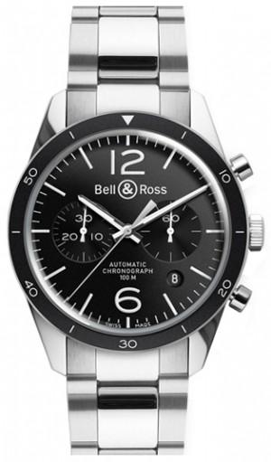Bell & Ross Vintage Original Stainless Steel Men's Watch BRV126-BL-BE/SST