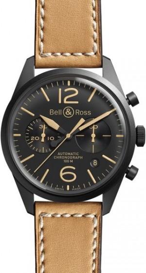 Bell & Ross Vintage Original Black Dial Men's Watch BRV126-HERITAGE