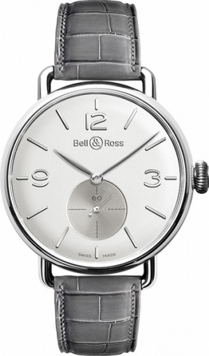 Bell & Ross Vintage Silver Dial Men's Luxury Watch WW1 BRWW1-ME-AG-OP/SCR