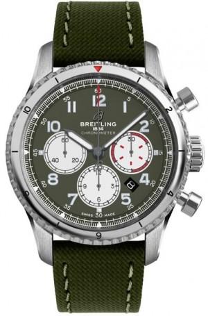 Breitling Aviator 8 Curtiss Warhawk Green Dial Men's Watch AB01192A1L1X1