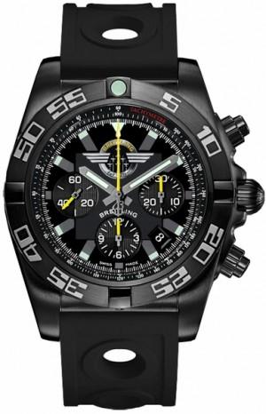 Breitling Chronomat 44 Jet Team Men's Blacksteel Watch MB01109L/BD48-227S