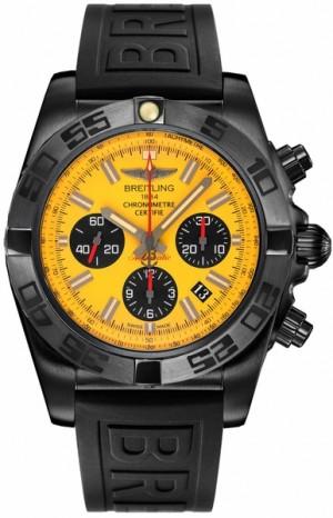 Breitling Chronomat 44 Blacksteel Yellow Dial Men's Watch MB0111C3/I531-262S
