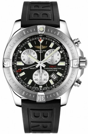 Breitling Colt Chronograph Black Dial Men's Watch A7338811/BD43-153S