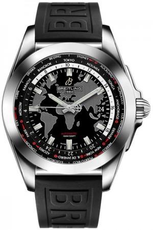 Breitling Galactic Unitime 44mm Steel Men's Watch WB3510U4/BD94-152S
