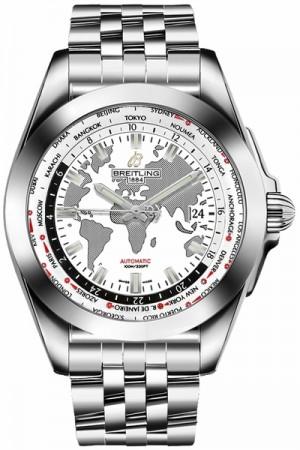 Breitling Galactic Unitime Men's Watch WB3510U0/A777-375A