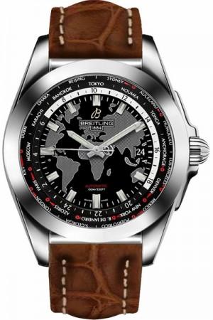 Breitling Galactic Unitime Trophy Black Dial Men's Watch WB3510U4/BD94-500P