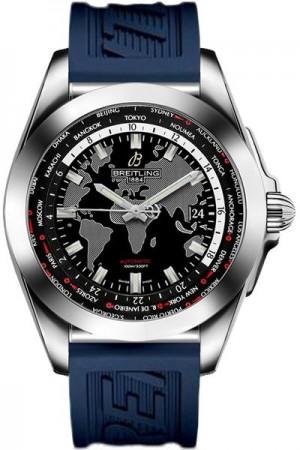 Breitling Galactic Unitime Steel Men's Watch WB3510U4/BD94-121S