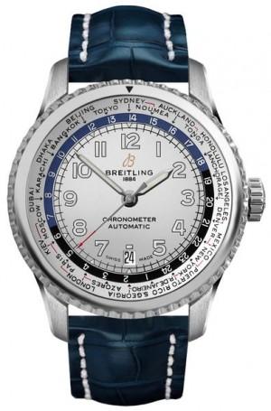 Breitling Aviator 8 Unitime 43mm Silver Dial Men's Watch AB3521U01G1P2