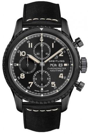 Breitling Navitimer 8 Chronograph 43 Black Steel Men's Watch M1331410/BG67-487X