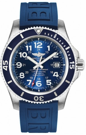 Breitling Superocean II 44 Blue Men's Luxury Watch A17392D81C1S2