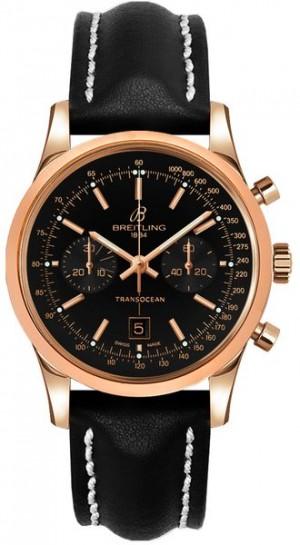 Breitling Transocean Chronograph 38 Gold Luxury Men's Watch R4131012/BC07-428X