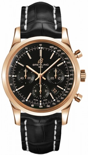 Breitling Transocean Chronograph Solid 18k Rose Gold Men's Watch RB015212/BB16-743P