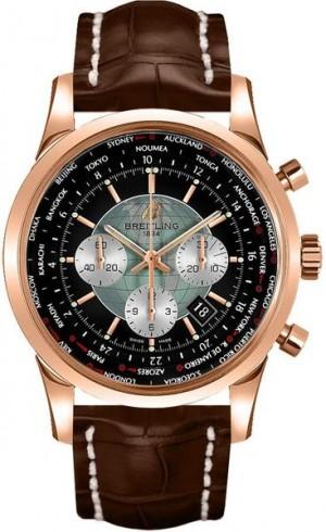 Breitling Transocean Unitime Rose Gold Men's Watch RB0510U4/BB63-756P