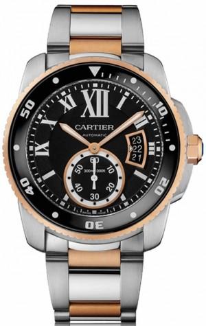 Cartier Calibre de Cartier Diver Pink Gold Men's Watch 42mm W7100054