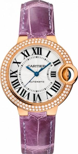 Cartier Ballon Bleu 18k Pink Gold Diamond Women's Watch WE902066