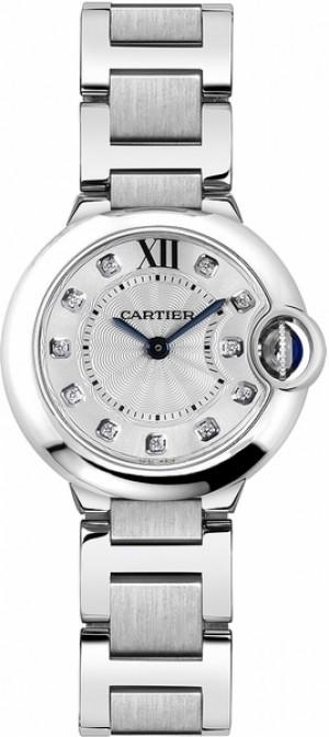 Cartier Ballon Bleu Silver & Diamond Dial Women's Watch WE902073