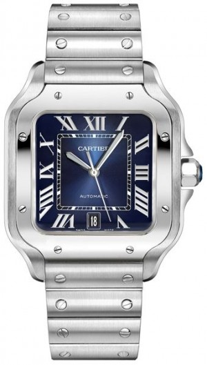 Cartier Santos De Cartier Blue Dial Men's Watch WSSA0013