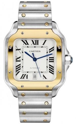 Cartier Santos De Cartier Silver Dial Men's Watch W2SA0006