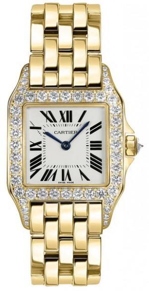 Cartier Santos Demoiselle Solid 18k Yellow Gold Women's Watch WF9002Y7