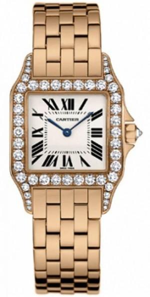 Cartier Santos Demoiselle 18k Rose Gold Women's Watch WF9007Z8