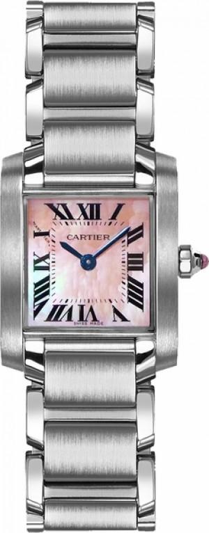 Cartier Tank Francaise Pink Pearl Petite Women's Watch W51028Q3