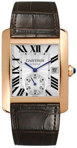 Cartier Tank MC Solid Rose Gold Men's Watch W5330001