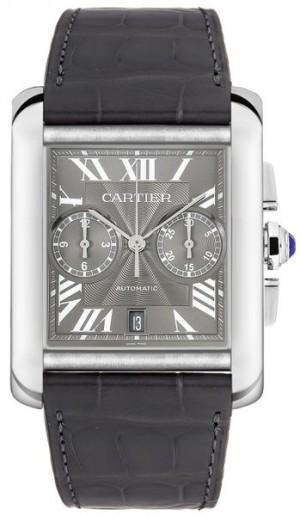 Cartier Tank MC Grey Dial Chronograph Men's Watch W5330008