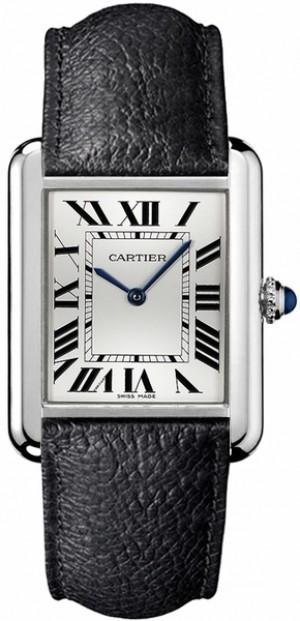 Cartier Tank Solo Steel Roman Numeral Dial Men's or Women's Watch WSTA0028