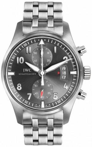 IWC Spitfire Chronograph Ardoise Grey Dial Men's Watch IW387804