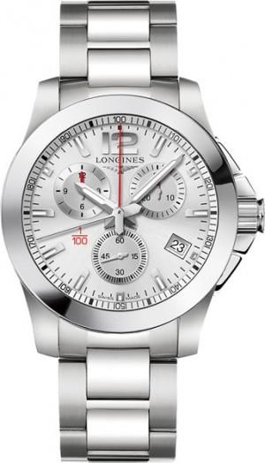 Longines Conquest Silver Dial Men's Watch L3.700.4.76.6