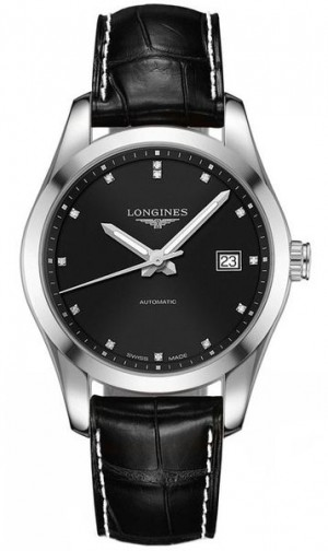 Longines Conquest Classic Black Dial Men's Dress Watch L2.785.4.58.3