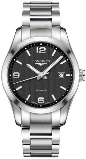 Longines Conquest Classic Black Dial Men's Dress Watch L2.785.4.56.6