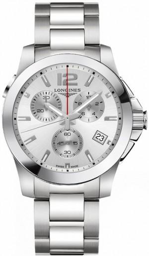 Longines Conquest Silver Dial Quartz Men's Watch L3.702.4.76.6