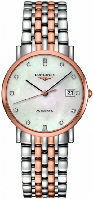 Longines Elegant Collection Rose Gold Ladies Automatic Watch L4.809.5.87.7
