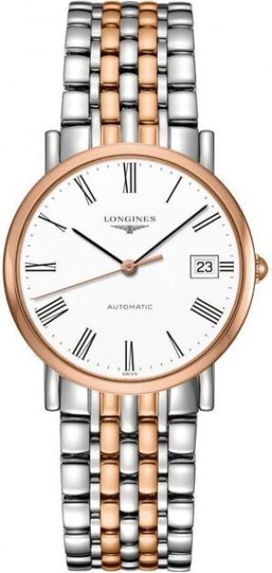 Longines Elegant Rose Gold & Steel Women's Watch L4.809.5.11.7