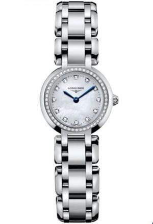 Longines PrimaLuna Pearl White Dial with Diamonds Women's Watch L8.109.0.87.6