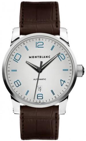 MontBlanc TimeWalker Date Silver Dial Men's Dress Watch 110338