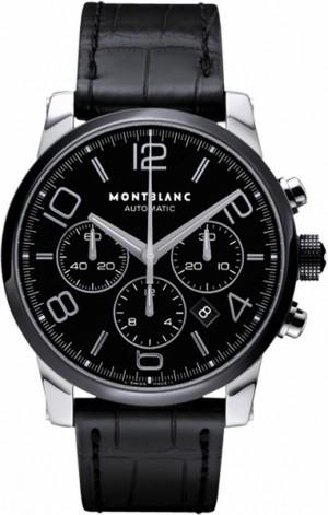MontBlanc TimeWalker Chronograph Black Dial Ceramic Men's Watch 102365