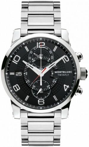 MontBlanc TimeWalker Chronograph Black Dial Men's Watch 104286
