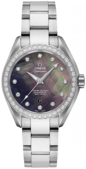 Omega Seamaster Aqua Terra Diamond Women's Watch 231.15.34.20.57.001