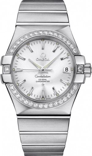 Omega Constellation Diamond Luxury Watch 123.15.35.20.02.001