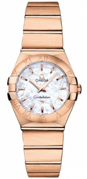 Omega Constellation Solid Rose Gold Luxury Women's Watch 123.50.24.60.05.001
