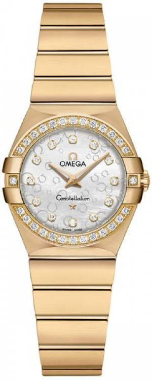 Omega Constellation Diamond & Solid Yellow Gold Ladies Luxury Watch 123.55.24.60.55.016